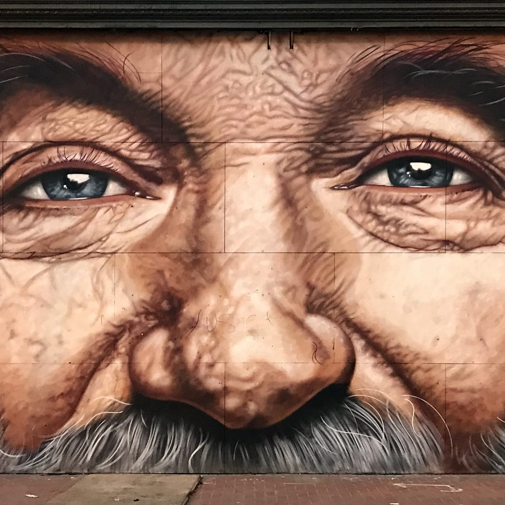 "#artbits - ""Robin Williams"" Mural by Cobre (Detail), 7th and Market Str. in San Francisco"