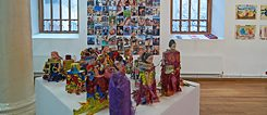 What is a good figure? The artist Abdulrazaq Awofeso replaces the bodies of Barbie dolls with blocks of wood.
