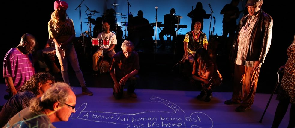 "Los Angeles Poverty Department LAPD performance of ""I fly! or How to Keep the Devil Down in the Hole"" at REDCAT"