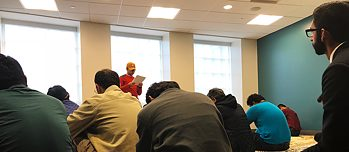 Friday prayer of the Muslim Student Association of the Miami University, Oxford, Ohio