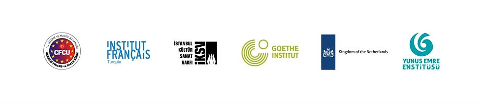 "Projektpartner ""Be Mobile – Create Together!"": Institut français de Turquie, Istanbul Foundation for Culture and Arts (İKSV), Goethe-Institut, Embassy of the Netherlands in Turkey, Yunus-Emre-Institut"