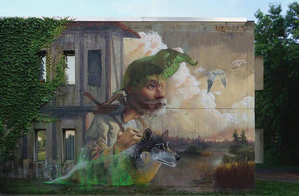 """Home is where your heart is"", 2015, ""Meeting of Styles"" Graffiti Festival in Mailand, Italien"