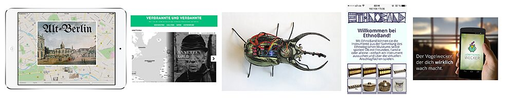 From a tourism app to a robot beetle: screenshots and pictures of the projects created by Coding da Vinci.