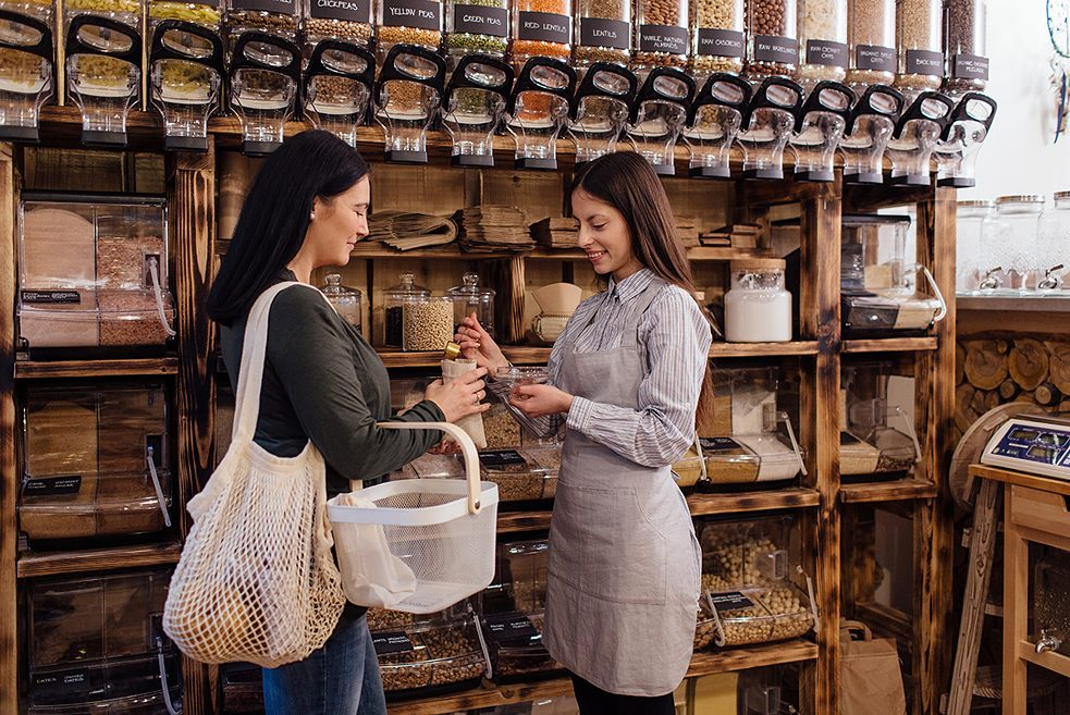 Concepts like zero-waste grocery stores are also part of the social enterprise sector.