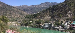 Rishikesh on the banks of river Ganges