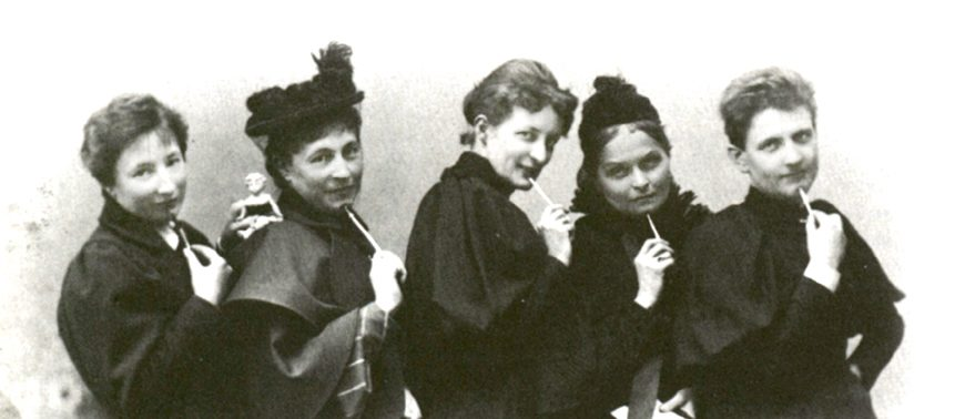 Five members of the Verein für Frauenstimmrecht (the Society for Women's Suffrage), 1896