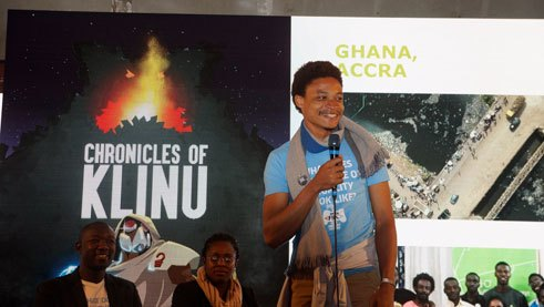 "Matthew Hansen from ""Enter Africa"" Accra presents their location-based game ""The Chronicles of Klinu"""