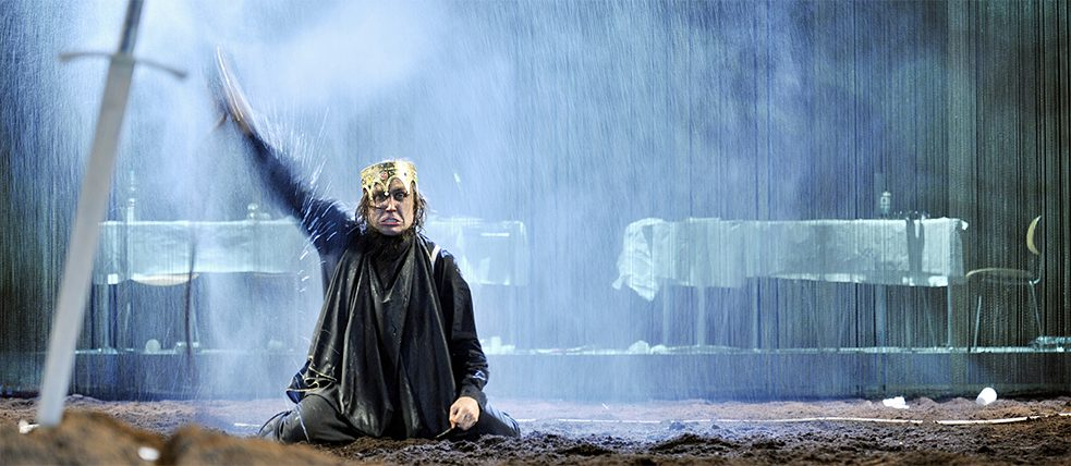 Hamlet production at Berlin's Schaubühne: long-time ensemble member Lars Eidinger has also made a name for himself as a film actor.