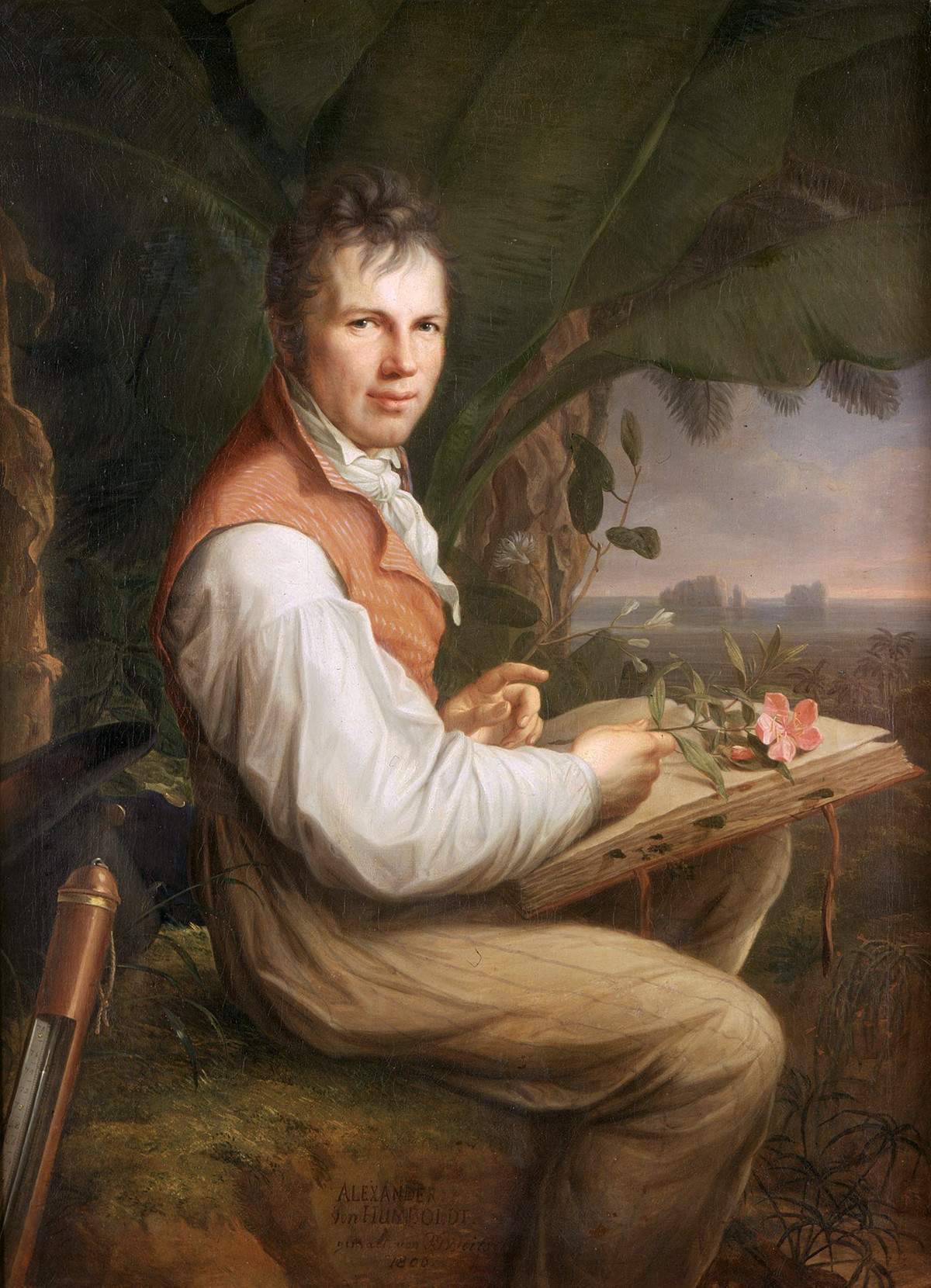Portrait of scientist Alexander von Humboldt by Friedrich Georg Weitsch, 1806