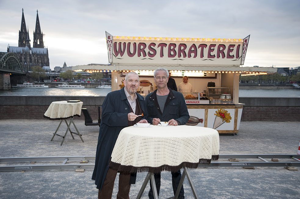 "Closing out the case with a <i>currywurst</i>: The Cologne detective duo from the popular Sunday evening ""Tatort"" series has ended almost every episode enjoying a curried sausage on the banks of the Rhine for decades."