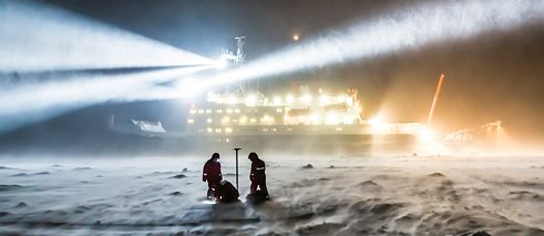 The Polarstern in action: In September 2019, the research vessel will set a course to drift with the Artic sea ice for a year.