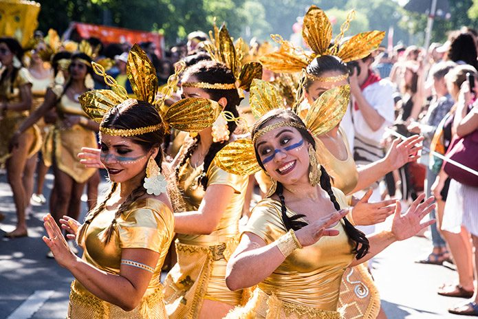 Razzle dazzle: Colombians at the carnival parade in 2018.