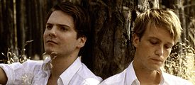 "The actors Daniel Bruehl and August Diehl in a scene in the film ""What good is love in thought"""
