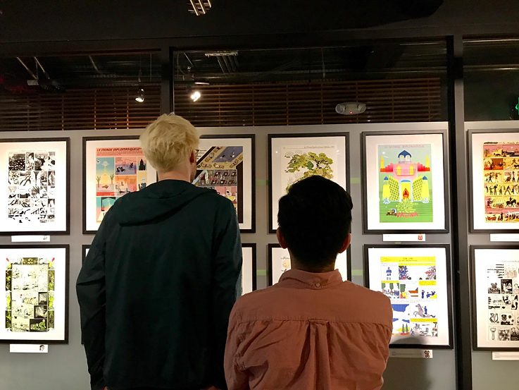 LMD comic exhibition at Goethe Pop Up Seattle