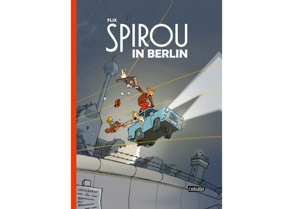 Another Belgian classic: The hotel bellhop Spirou takes a trip to Berlin and helps bring the Berlin Wall down.