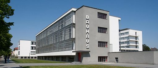 Bauhaus building from the southwest, Walter Gropius, Dessau, 1926