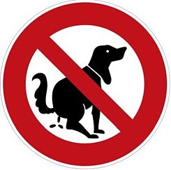 Proposed pictogram to prevent errant dog turds.