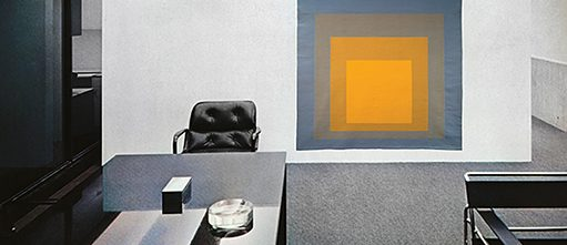 Executive guest area, upper level, Harry Seidler © Penelope-Seidler Tapestry © Josef and Anni Albers Foundation