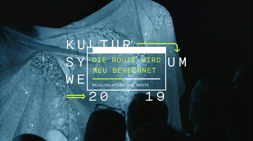Now stern and threatening, now benign and jocularKultursymposium Weimar 2019 - Die Route wird neu berechnet