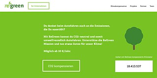 <b>CO2 compensation for motorists</b><br>Planes are not the only form of transport damaging the environment, of course; other vehicles do it as well. So Vienna startup ReGreen goes one step further than carbon compensation for flights, extending it additionally to motorists. Its website features a calculator that determines emissions based on vehicle type and annual mileage. An economical petrol model that clocks up 10,000 kilometres a year is reckoned to emit 1.95 tonnes of carbon dioxide. A powerful diesel pumps out 3.10 tonnes. So far, the company claims to have compensated more than 18 million kilometres driven.