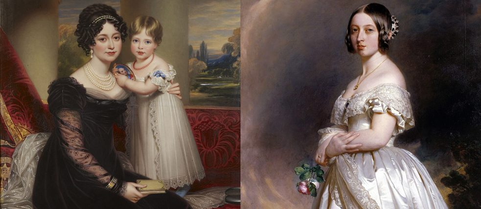 Victoria and her mother | Young Queen Victoria