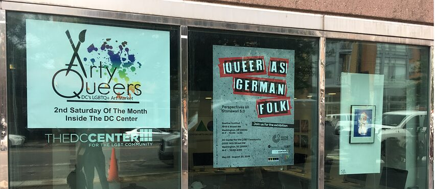 "Ausstellungsposter bei unserem Partner ""The DC Center for the LGBT Community"""