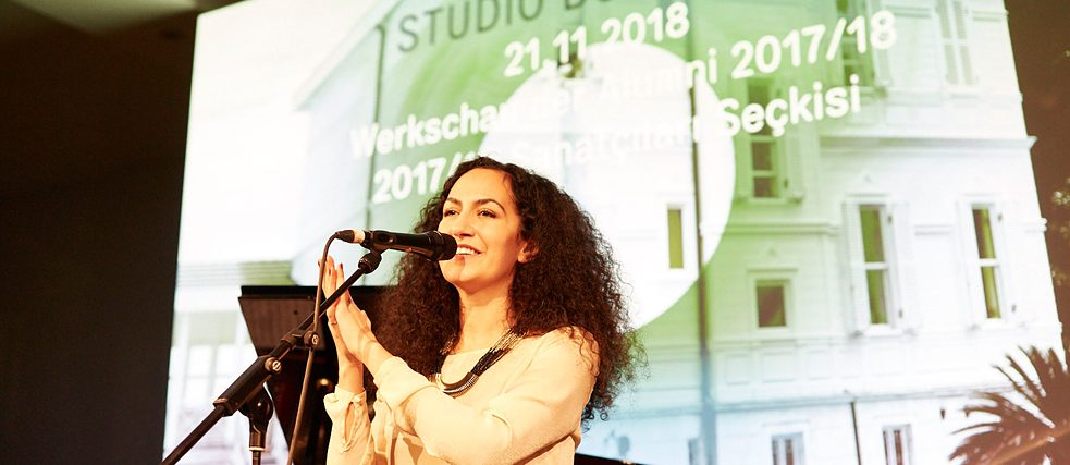 Dance and music during the presentation of the Kulturakademie Tarabya in Berlin 2018