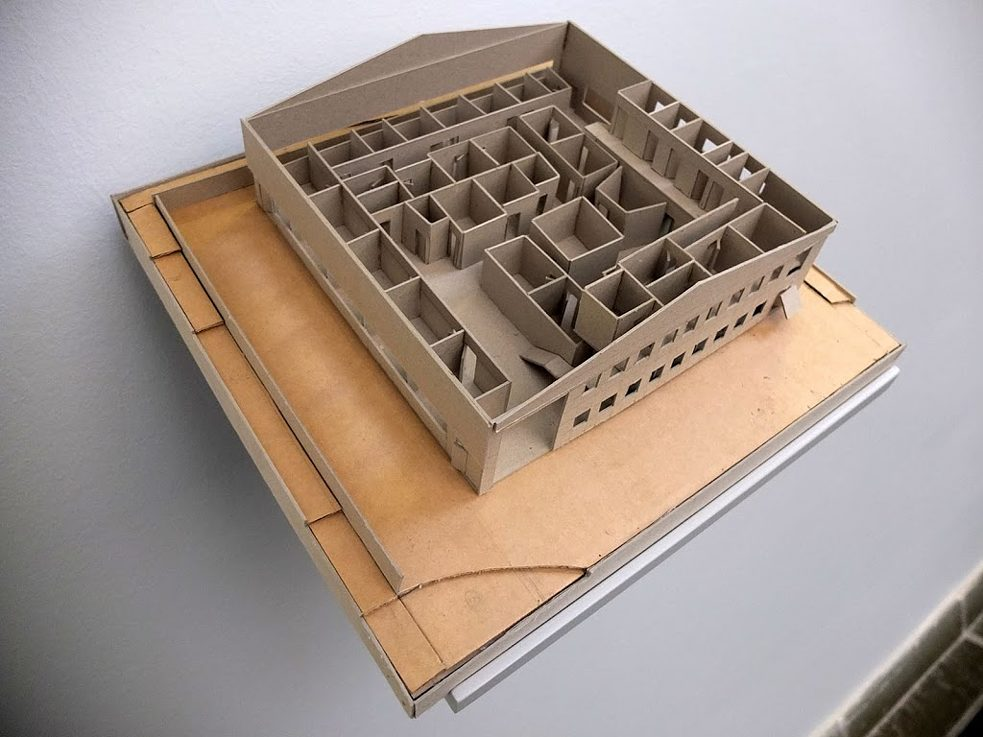 Model of one of the informally settled warehouses made by architecture students from the University of Johannesburg.