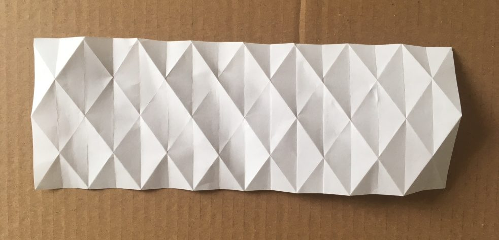 Example of folded sheet from Bauhaus DIY Kit