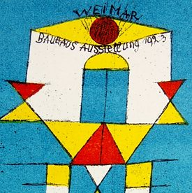 Paul Klee - Exhibition Postcard for the Bauhaus exhibition in Weimar 1923