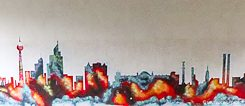 Skyline von Berlin (Graffito)