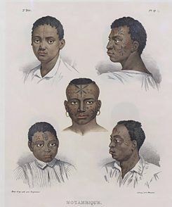 "Mozambicans: from ""Picturesque Journey in Brazil"" by Johann Moritz Rugendas, 1830-1835, Collection of the Biblioteca Nacional, Brazil 