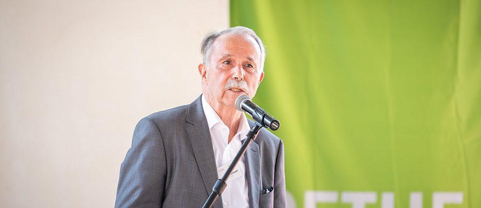 Klaus-Dieter Lehmann, president of the Goethe-Institut, during his keynote address in Namibia