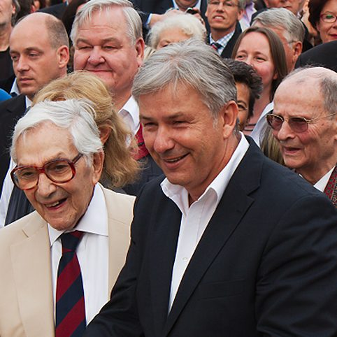 Klaus Wowereit with Ken Adam 2012 in Berlin at the inauguration of the Boulevard of the Stars
