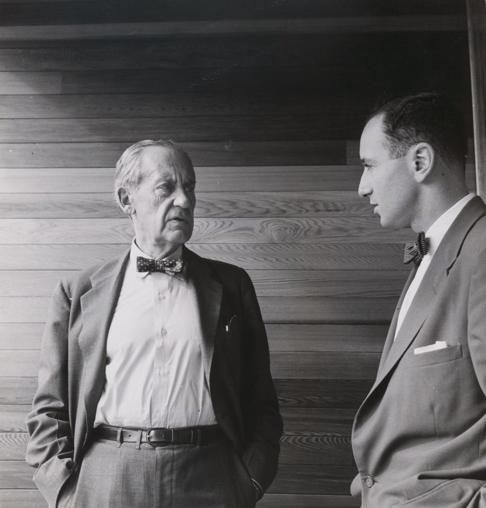 Walter Gropius and Harry Seidler, May 1954, by Max Dupain. Collection: National Portrait Gallery, Canberra. Purchased with funds provided by Timothy Fairfax AC, 2003