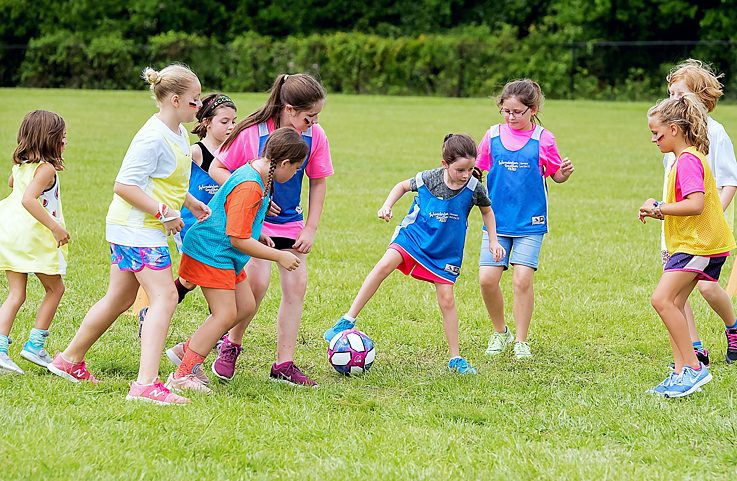 Fußball Camp 2019 Girls playing soccer