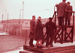 At an overlook over Berlin Wall (1961-62)