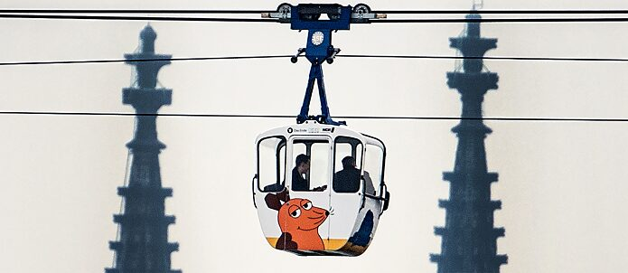 Will over 30 kilometres of cable car system soon be transporting passengers across the Rhine in Cologne?