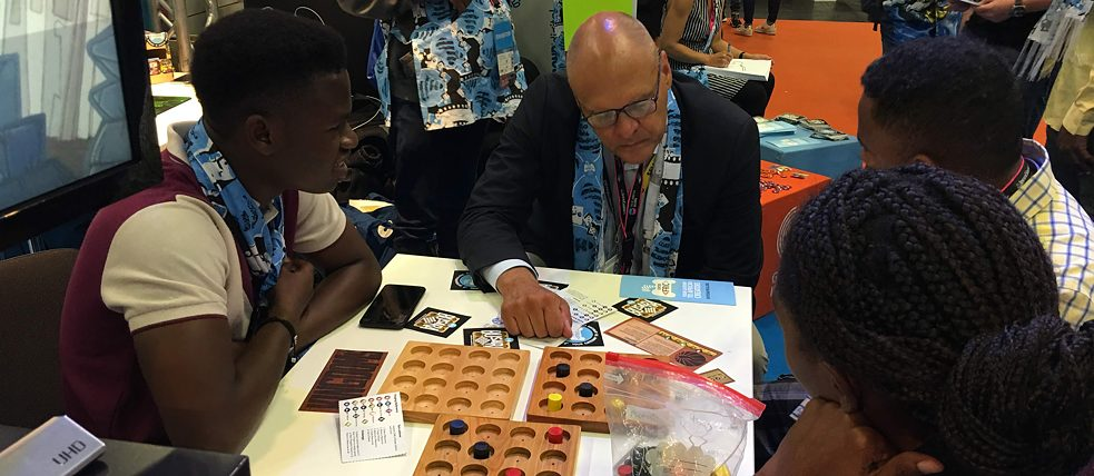 Secretary-general Johannes Ebert at Gamescom with Enter Africa