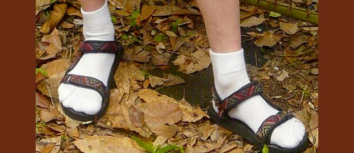 Socks and Sandals © Wiki Creative Commons