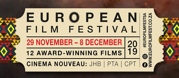 Informational Banner of the European Film Festival 2019 in CPT, PTA, DUR