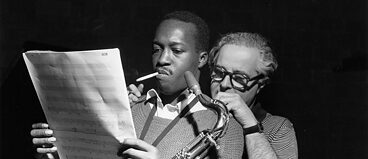 "Hank Mobley and Alfred Lion in the documentary ""It Must Schwing"""