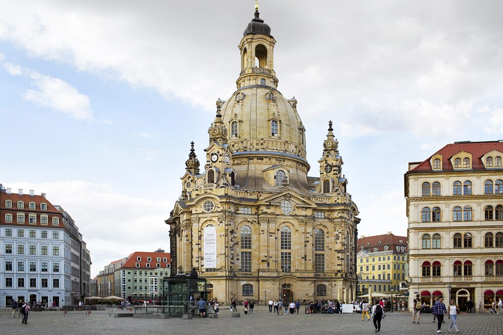 Frauenkirche church in Dresden