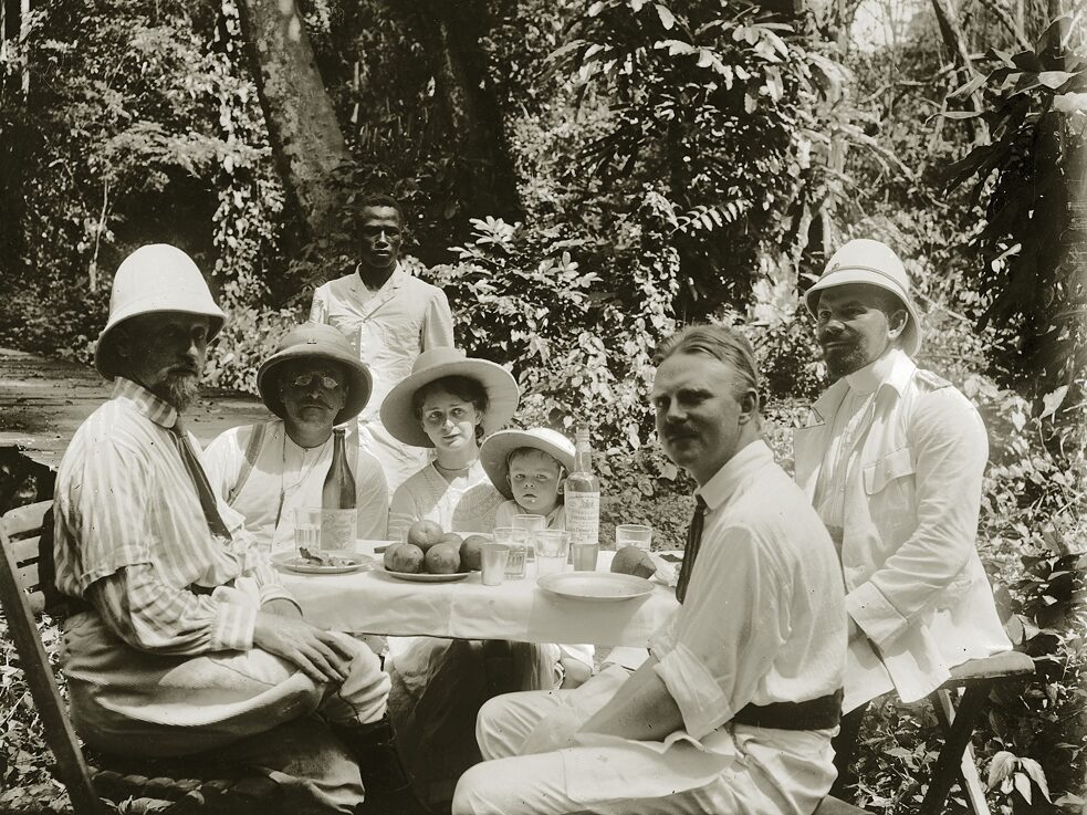 German colonial officials with family members in Togo