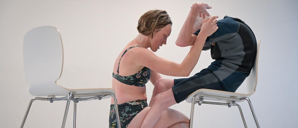 Renae and Roland rehearse SKIN at Lucy Guerin Inc in Melbourne - Picture 2