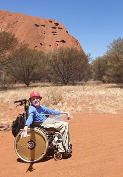 Roland Walter takes a tour of Uluru in central Australia