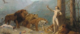 "Gustave Surand (1860-1937), ""Orpheus Charming the Animals"" (Ausschnitt)"