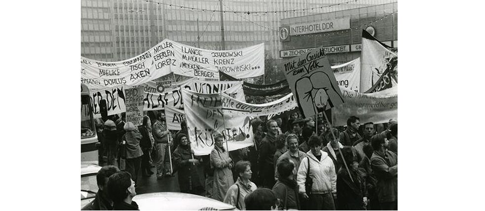 Alexanderplatz Demonstration in Berlin on November 4, 1989