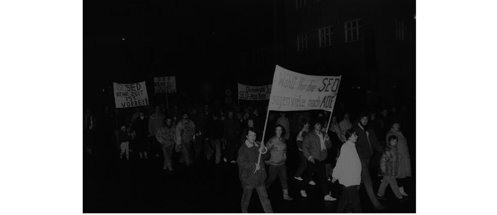 Demonstration in Wittenberge on 15 January 1990