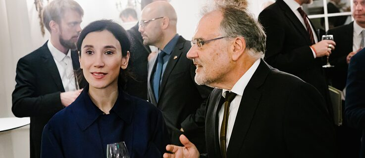Actress Sibel Kekilli and Kurt Fendt (MIT)